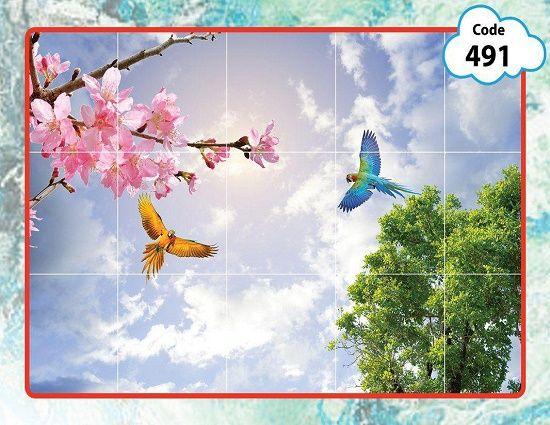 آسمان مجازی طرح شکوفه در انواع سایز ها