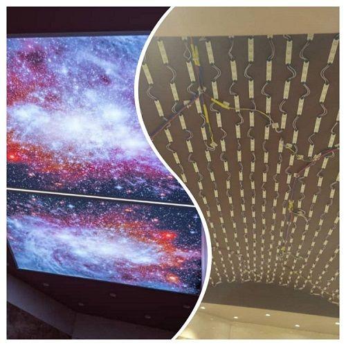 کار اجرای آسمان مجازی همراه با نورپردازی